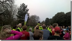 Pre Run Briefing at Dulwich
