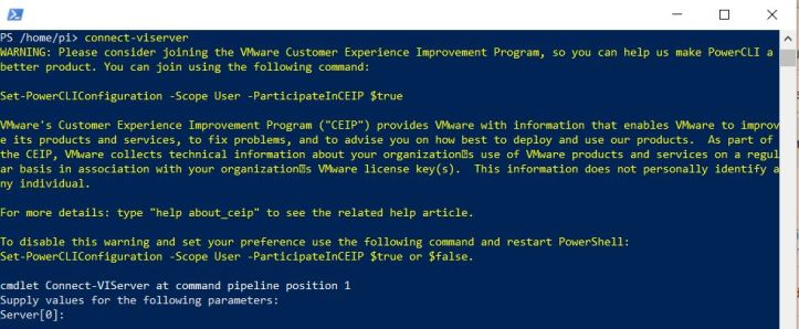 Installing VMware PowerCLI 10 on a Raspberry Pi